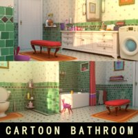 Cartoon Bathroom