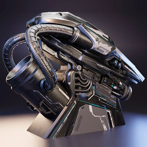 cryopod cryo pod 3D model