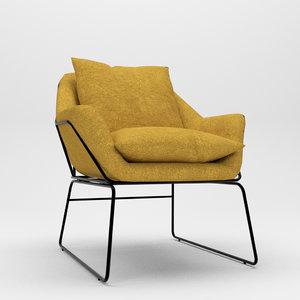 3D accent chair