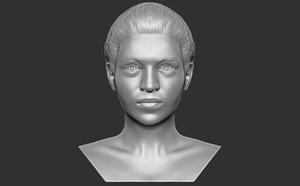 3D bust woman printing model