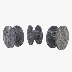 3D old wooden coils model