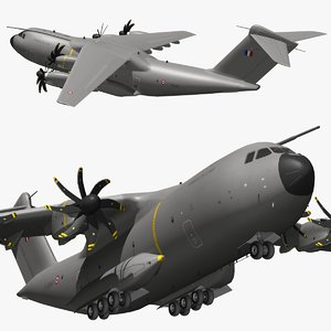 airbus a400m french air force 3D