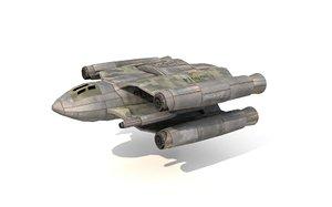 combat spaceship model