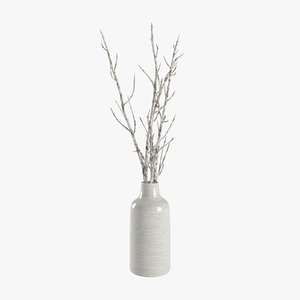 bunch paper branches decoration 3D
