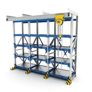 rack hand-chain hoist 3D model