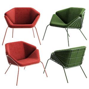 3D model armchair chair skin