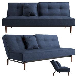 splitback sofa 3D model