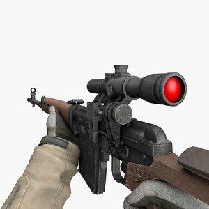 sr svd scope 3D model