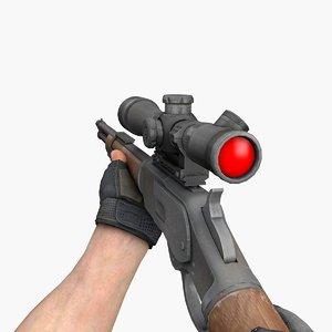 sr m73 snipe gun 3D