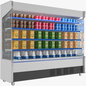 open display cooler 3D model