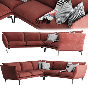 3D comfort hugo sofa model