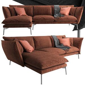 3D comfort hugo sofa
