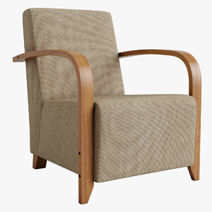 volga chair 3D model