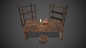 3D tavern set