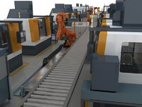 CNC machine production line