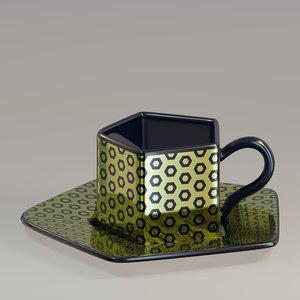 3D model cup pentagon