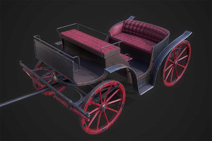 retro carriage 3D model