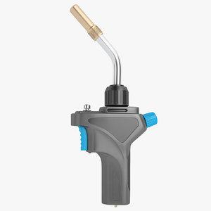 gas welding torch 3D model