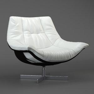 flight armchair roche bobois 3D model