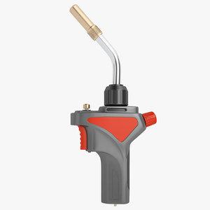 gas welding torch 3D