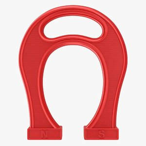 3D giant horseshoe magnet model