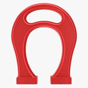 3D giant horseshoe magnet model
