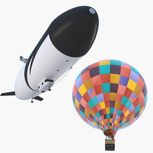 3D zeppelin air balloon