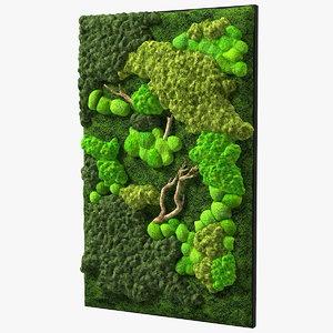 3D decorative moss wall