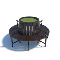 New Yorker round bench 3D