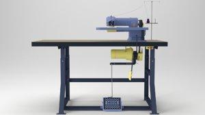 industrial blind stitch machine 3D model