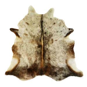 wool carpet cowhide brown 3D model
