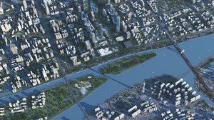 3D guangzhou city