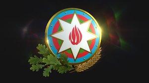 national emblem azerbaijan 3D model