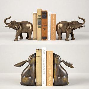 3D book elephant model