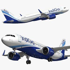 3D airbus a320 indigo airlines