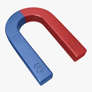 3D model horseshoe magnet