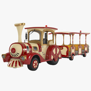 trackless train 3D model