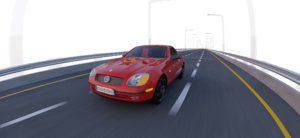 mercedes slk 3D
