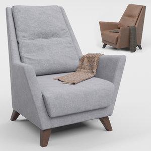patrick armchair 3D model