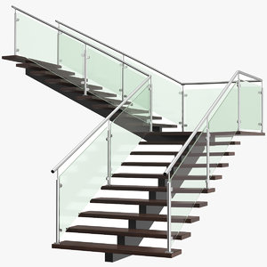 3D real l stair model