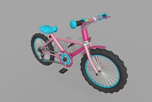 stylized pink model