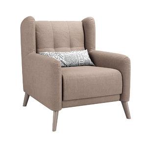 armchair chair aneto 3D model