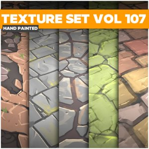 Stylized Textures Vol 107 - Game PBR Textures Texture