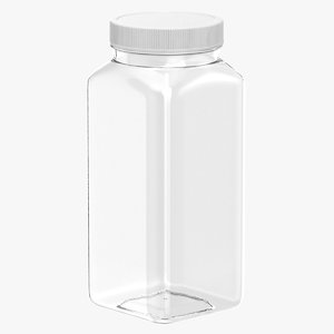 plastic square bottle 16oz model
