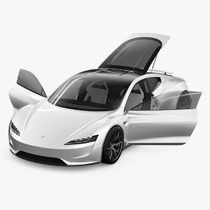tesla roadster 3D model