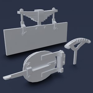 steam locomotive details 01 3D model