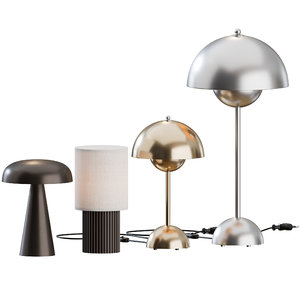 3D table lamps