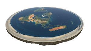 3D flat earth 8k