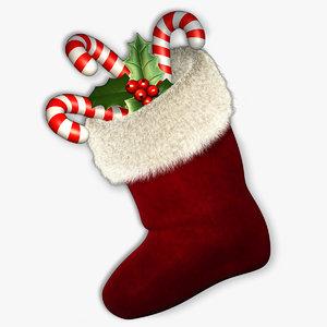3d max christmas sock