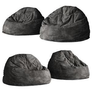 3D beanbag chair model